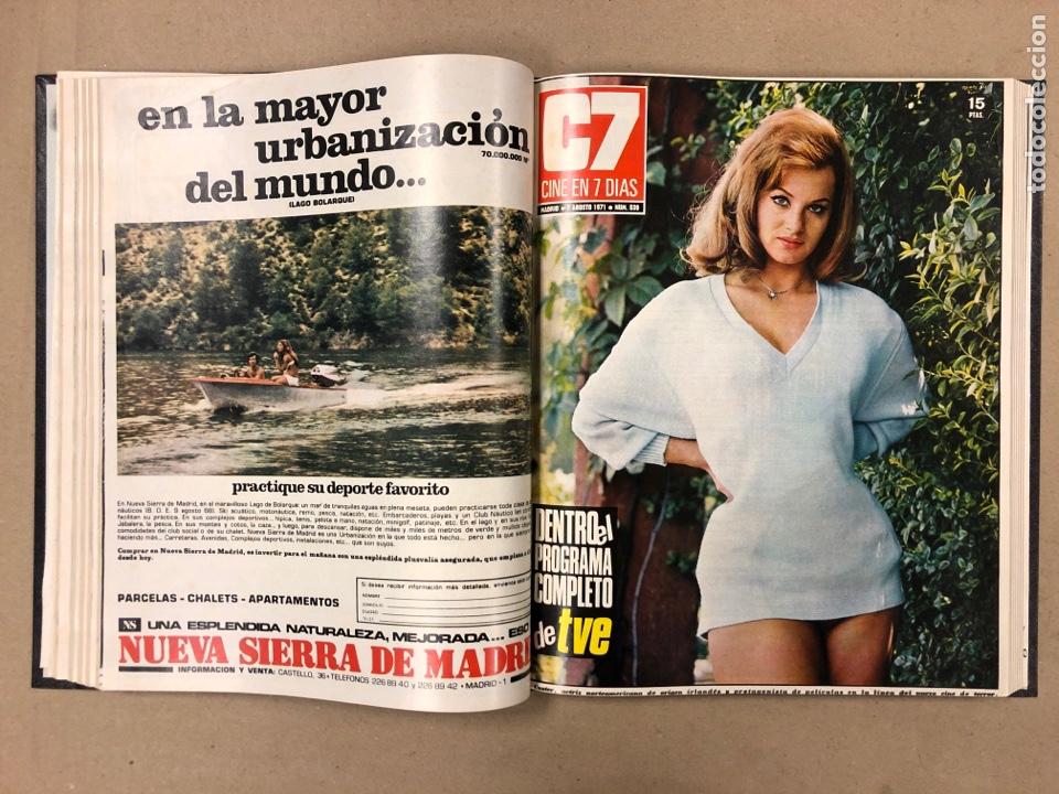 Cine: CINE EN 7 DÍAS. AÑO 1971 COMPLETO (menos 4 revistas) EN 4 TOMOS. DE N° 511 al N° 559. 49 NÚMEROS. - Foto 31 - 178139549