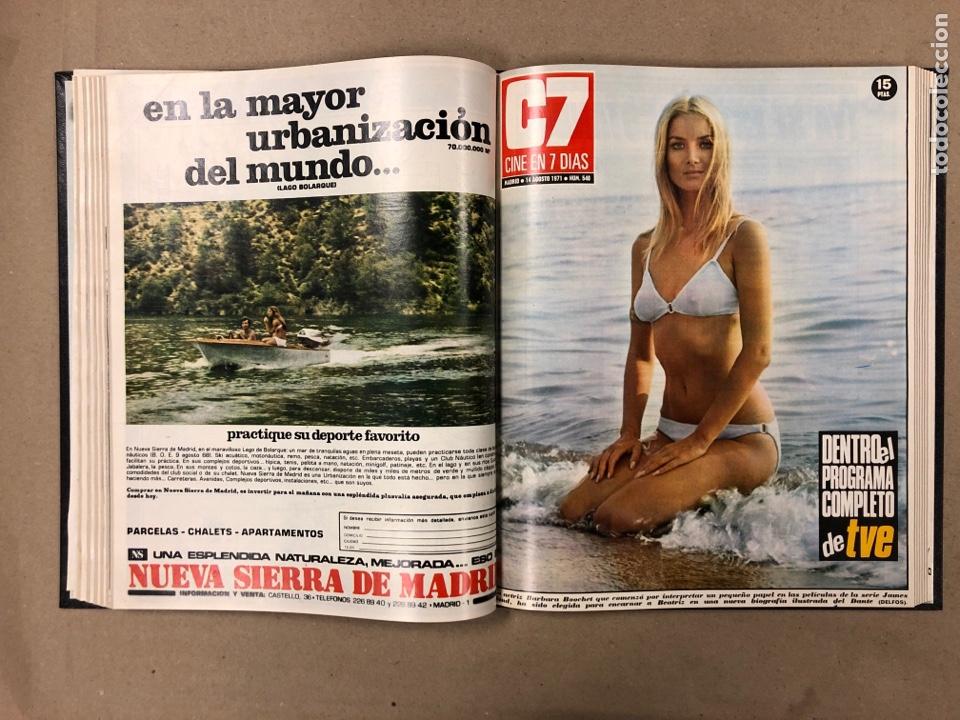 Cine: CINE EN 7 DÍAS. AÑO 1971 COMPLETO (menos 4 revistas) EN 4 TOMOS. DE N° 511 al N° 559. 49 NÚMEROS. - Foto 32 - 178139549