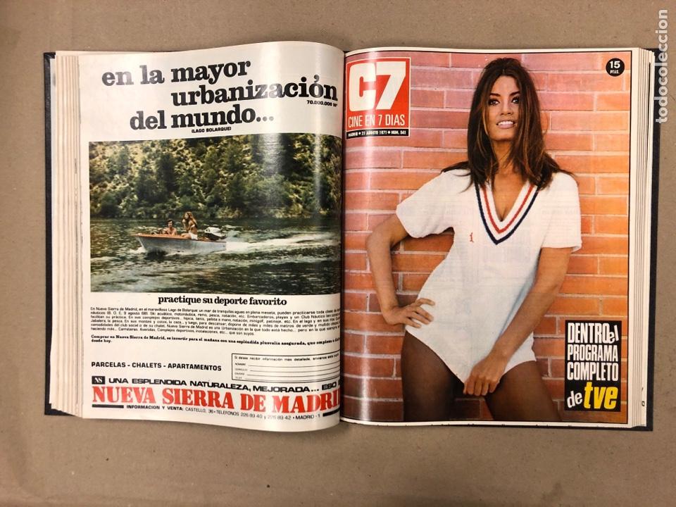Cine: CINE EN 7 DÍAS. AÑO 1971 COMPLETO (menos 4 revistas) EN 4 TOMOS. DE N° 511 al N° 559. 49 NÚMEROS. - Foto 33 - 178139549