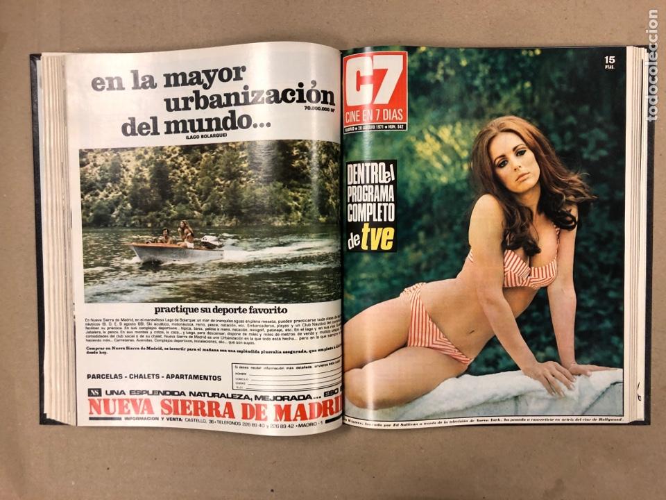 Cine: CINE EN 7 DÍAS. AÑO 1971 COMPLETO (menos 4 revistas) EN 4 TOMOS. DE N° 511 al N° 559. 49 NÚMEROS. - Foto 34 - 178139549