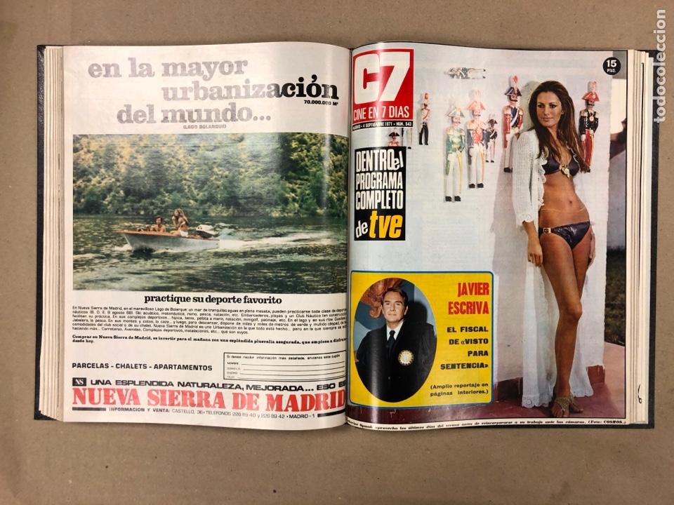 Cine: CINE EN 7 DÍAS. AÑO 1971 COMPLETO (menos 4 revistas) EN 4 TOMOS. DE N° 511 al N° 559. 49 NÚMEROS. - Foto 35 - 178139549