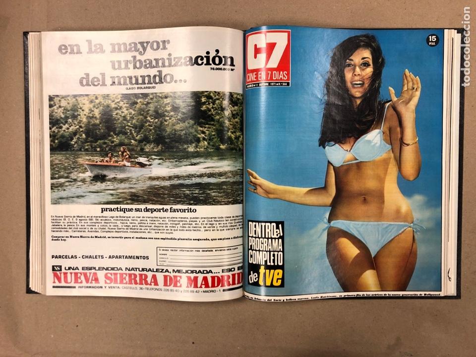 Cine: CINE EN 7 DÍAS. AÑO 1971 COMPLETO (menos 4 revistas) EN 4 TOMOS. DE N° 511 al N° 559. 49 NÚMEROS. - Foto 36 - 178139549