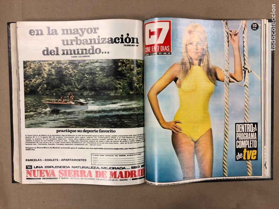 Cine: CINE EN 7 DÍAS. AÑO 1971 COMPLETO (menos 4 revistas) EN 4 TOMOS. DE N° 511 al N° 559. 49 NÚMEROS. - Foto 37 - 178139549