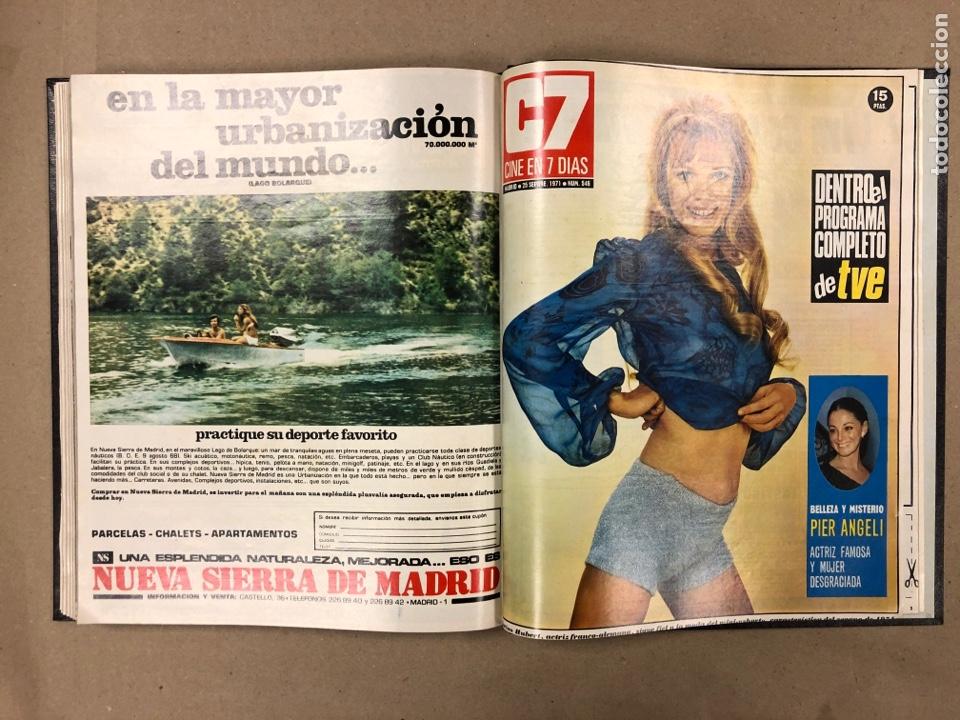 Cine: CINE EN 7 DÍAS. AÑO 1971 COMPLETO (menos 4 revistas) EN 4 TOMOS. DE N° 511 al N° 559. 49 NÚMEROS. - Foto 38 - 178139549
