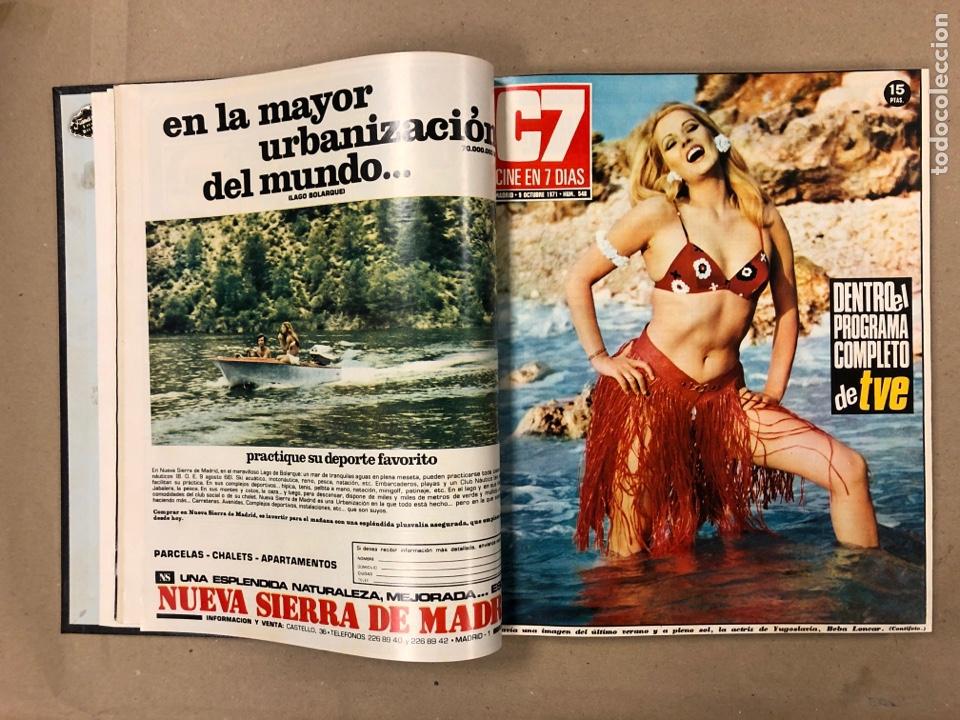 Cine: CINE EN 7 DÍAS. AÑO 1971 COMPLETO (menos 4 revistas) EN 4 TOMOS. DE N° 511 al N° 559. 49 NÚMEROS. - Foto 40 - 178139549