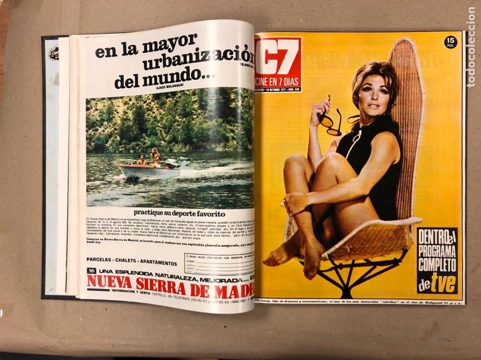 Cine: CINE EN 7 DÍAS. AÑO 1971 COMPLETO (menos 4 revistas) EN 4 TOMOS. DE N° 511 al N° 559. 49 NÚMEROS. - Foto 41 - 178139549