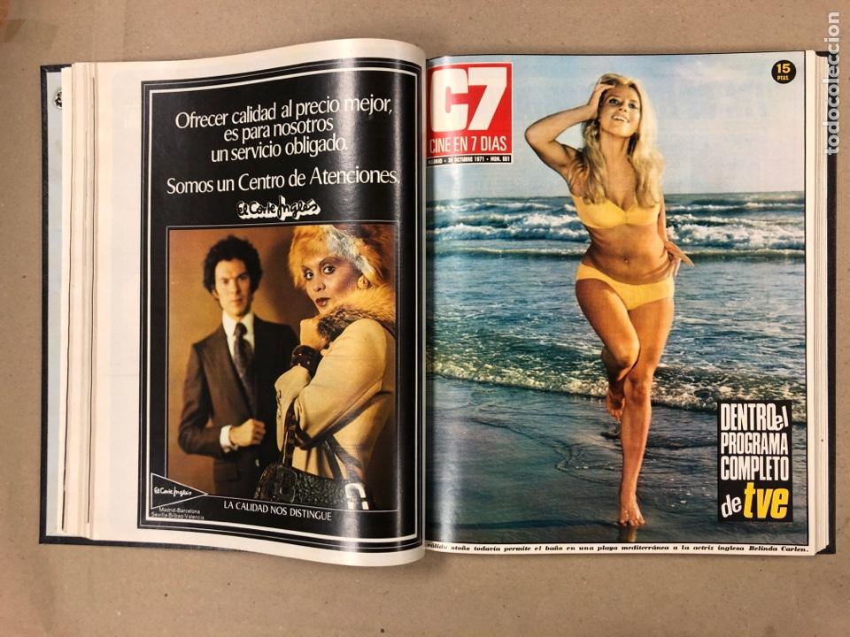 Cine: CINE EN 7 DÍAS. AÑO 1971 COMPLETO (menos 4 revistas) EN 4 TOMOS. DE N° 511 al N° 559. 49 NÚMEROS. - Foto 43 - 178139549