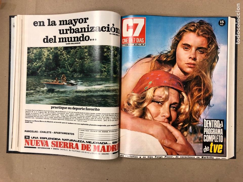 Cine: CINE EN 7 DÍAS. AÑO 1971 COMPLETO (menos 4 revistas) EN 4 TOMOS. DE N° 511 al N° 559. 49 NÚMEROS. - Foto 44 - 178139549