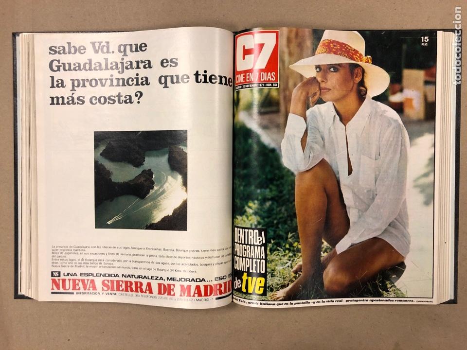 Cine: CINE EN 7 DÍAS. AÑO 1971 COMPLETO (menos 4 revistas) EN 4 TOMOS. DE N° 511 al N° 559. 49 NÚMEROS. - Foto 46 - 178139549