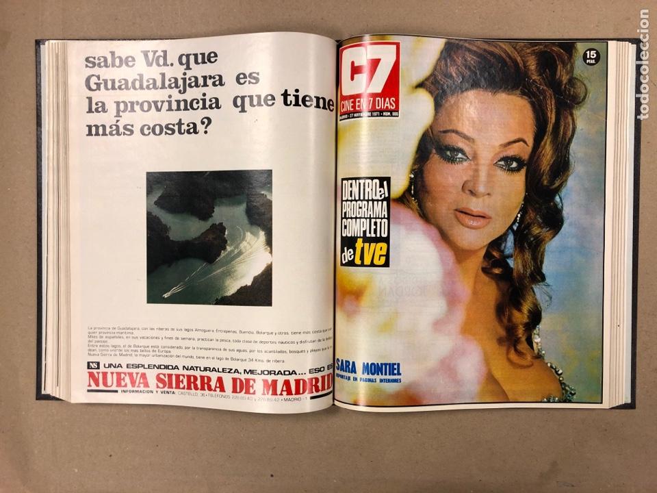 Cine: CINE EN 7 DÍAS. AÑO 1971 COMPLETO (menos 4 revistas) EN 4 TOMOS. DE N° 511 al N° 559. 49 NÚMEROS. - Foto 47 - 178139549
