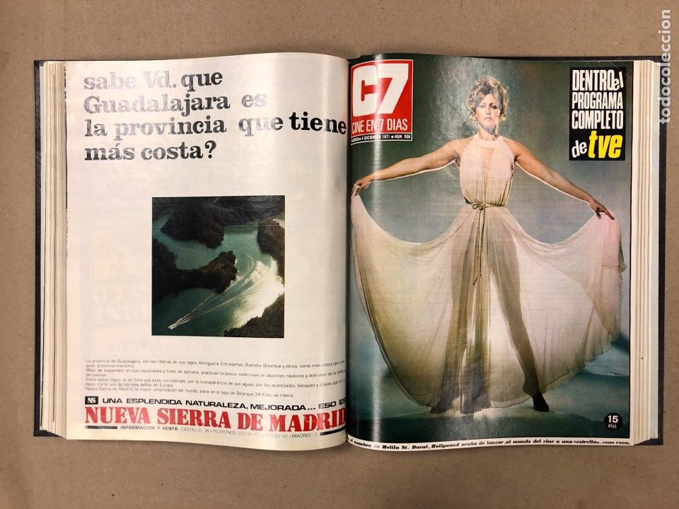 Cine: CINE EN 7 DÍAS. AÑO 1971 COMPLETO (menos 4 revistas) EN 4 TOMOS. DE N° 511 al N° 559. 49 NÚMEROS. - Foto 48 - 178139549