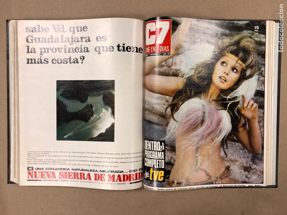 Cine: CINE EN 7 DÍAS. AÑO 1971 COMPLETO (menos 4 revistas) EN 4 TOMOS. DE N° 511 al N° 559. 49 NÚMEROS. - Foto 49 - 178139549