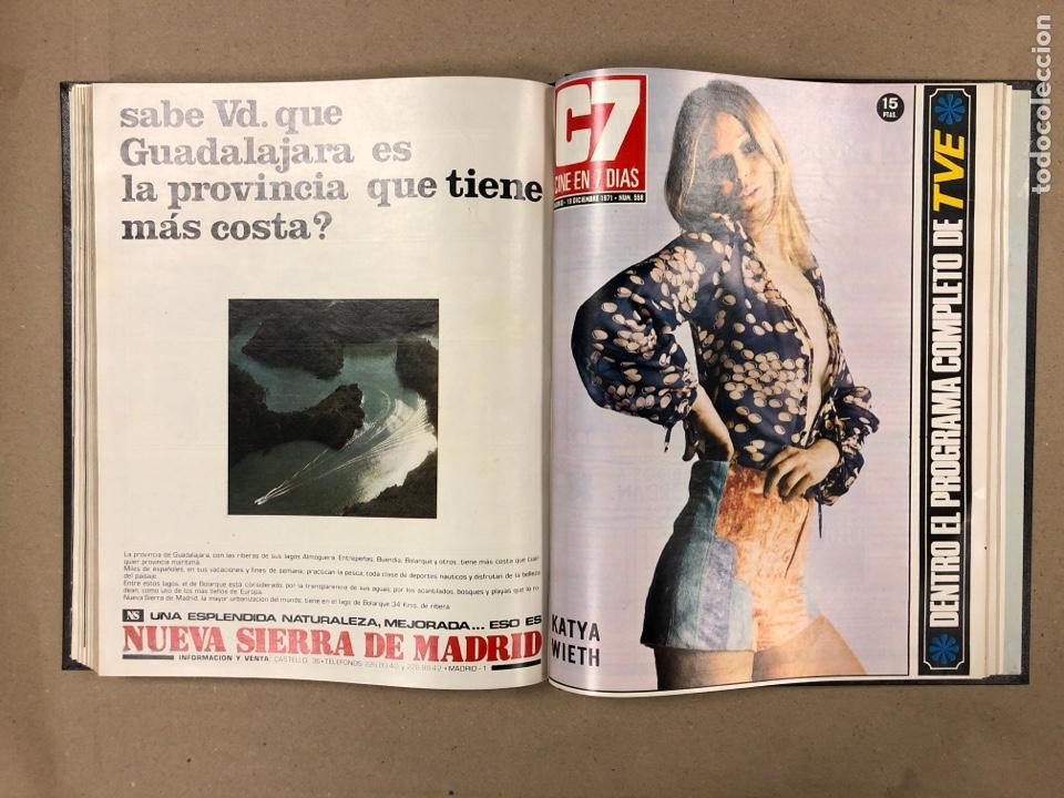Cine: CINE EN 7 DÍAS. AÑO 1971 COMPLETO (menos 4 revistas) EN 4 TOMOS. DE N° 511 al N° 559. 49 NÚMEROS. - Foto 50 - 178139549