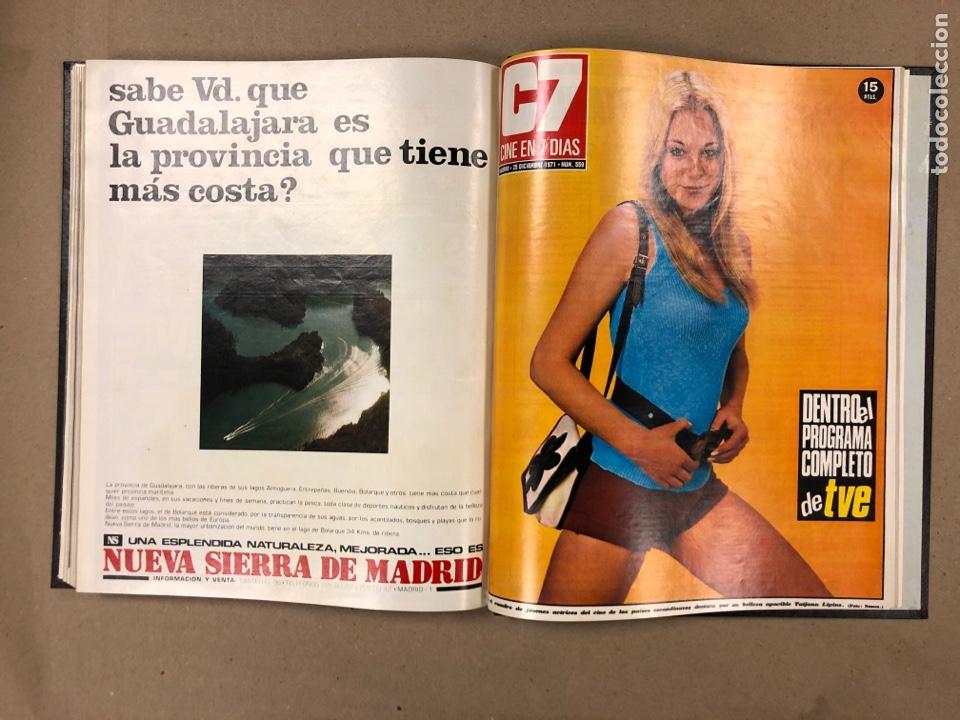 Cine: CINE EN 7 DÍAS. AÑO 1971 COMPLETO (menos 4 revistas) EN 4 TOMOS. DE N° 511 al N° 559. 49 NÚMEROS. - Foto 51 - 178139549