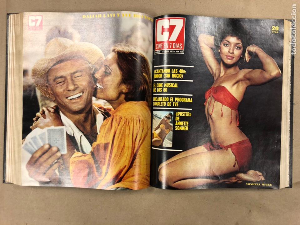 Cine: CINE EN 7 DÍAS, AÑO 1973 EN 3 TOMOS. DEL N° 613 al N° 661. 49 REVISTAS CON SUS POSTERS. - Foto 13 - 178237207
