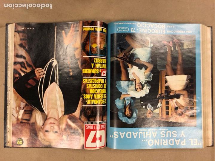 Cine: CINE EN 7 DÍAS, AÑO 1973 EN 3 TOMOS. DEL N° 613 al N° 661. 49 REVISTAS CON SUS POSTERS. - Foto 16 - 178237207