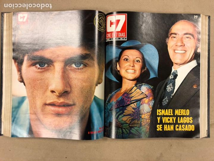 Cine: CINE EN 7 DÍAS, AÑO 1973 EN 3 TOMOS. DEL N° 613 al N° 661. 49 REVISTAS CON SUS POSTERS. - Foto 27 - 178237207