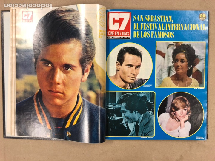 Cine: CINE EN 7 DÍAS, AÑO 1973 EN 3 TOMOS. DEL N° 613 al N° 661. 49 REVISTAS CON SUS POSTERS. - Foto 39 - 178237207