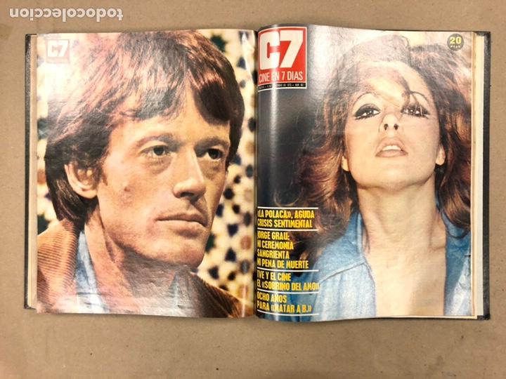 Cine: CINE EN 7 DÍAS, AÑO 1973 EN 3 TOMOS. DEL N° 613 al N° 661. 49 REVISTAS CON SUS POSTERS. - Foto 51 - 178237207
