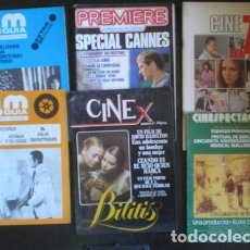 Cine: 6 REVISTAS DE CINE (CINESPECTÁCULO, 2 FILM GUÍA, PREMIERE, CINE 77 -BLANCO Y NEGRO- Y CINE X). Lote 178571987