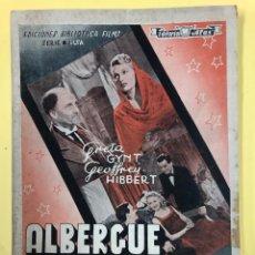 Cine: ALBERGUE NOCTURNO - GRETA GYNT Y GEOFFREY HIBBERT - ED. ALAS - INTONSO. Lote 178606566