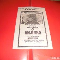 Cine: O ANJINHO (LE CORNIAUD) - LOUIS DE FUNÉS, BOURVIL - ORIGINAL PANFLETO DE CINEMA. Lote 178626237