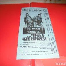 Cine: ... VAMOS A ISTO RAPAZES! (PIÙ FORTE, RAGAZZI!) TERENCE HILL E BUD SPENCER - PANFLETO DE CINEMA . Lote 178629411