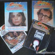 Cine: PAPELES DE CINE - CASABLANCA. LOTE DE 4 REVISTAS 1981 (Nº 1, 2, 4 Y 7-8). Lote 178656655