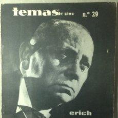 Cine: REVISTA TEMAS DE CINE.4 EJEMPLARES VON STROHEIM/PASSOLINI/AU HASARD BALTHASAR/SHOCK CORRIDOR. Lote 178829613
