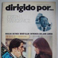 Cine: WOODY ALLEN. MARLENE DIETRICH. REVISTA DIRIGIDO POR. Nº 10. 1974. Lote 178841606