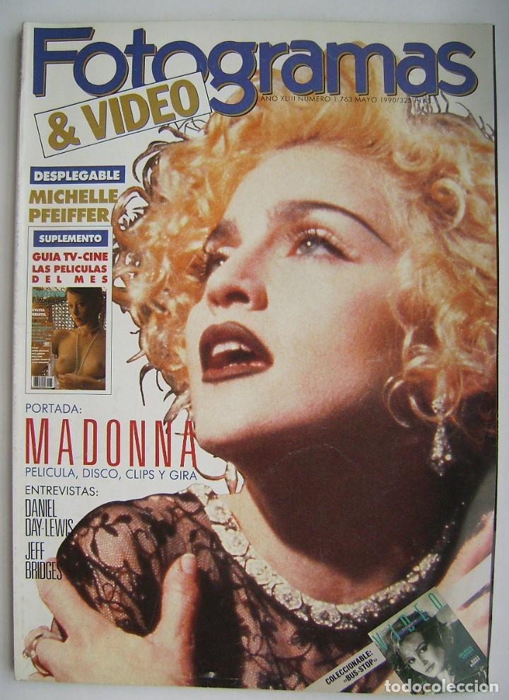 MADONNA. GRETA GARBO. MARILYN MONROE. MICHELLE PFEIFFER. REVISTA FOTOGRAMAS 1990. (Cine - Revistas - Fotogramas)