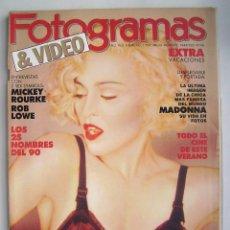 Cine: MADONNA. MARILYN MONROE. JOHN LENNON. REVISTA FOTOGRAMAS 1989.. Lote 178909732