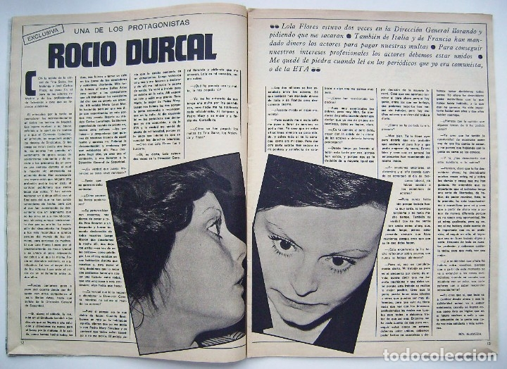Cine: ROCÍO DURCAL. DORIS DAY. REVISTA FOTOGRAMAS 1975. - Foto 2 - 178919006