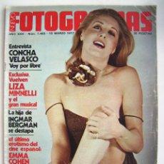 Cine: CONCHA VELASCO. REVISTA FOTOGRAMAS 1977.. Lote 178919927