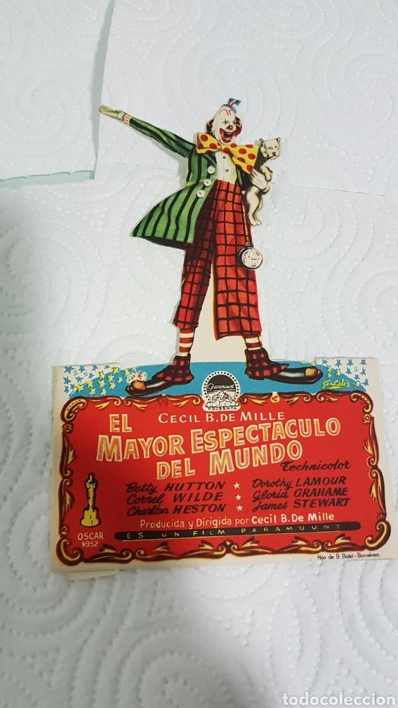 PUBLICIDAD PELICULA EL MAYOR ESPECTÁCULO DEL MUNDO (Cine - Reproducciones de carteles, folletos...)