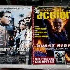Cine: REVISTA CINE Y VÍDEO ACCIÓN Nº 177 COMPLETA – GHOST RIDER. POSTERS Y FICHAS COLECCIONABLES. Lote 179120836