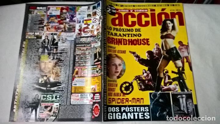 REVISTA CINE Y VÍDEO ACCIÓN Nº 179 FICHAS COLECCIONABLES (Cine - Revistas - Acción)