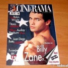 Cine: CINERAMA, NÚMERO 65. 1998. BILLY ZANE-AUDREY HEPBURN-ROBIN WRIGHT-JUAN DIEGO BOTTO-TITANIC. Lote 179175368
