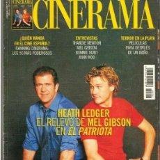 Cine: CINERAMA Nº 93 JULIO/AGOSTO DEL 2.000.HEATH LEDGER-MEL GIBSON-JOHN WOO-BONNIE HUNT. Lote 179175520