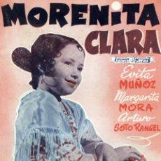 Cine: MORENITA CLARA, EDICIONES BIBLIOTECA FILMS -SERIE ESPECIAL Nº 370, EDITORIAL ALAS, BARCELONA, 1943. Lote 179189747