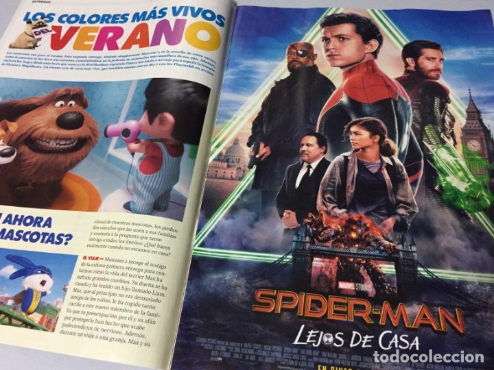 Cine: REVISTA CINERAMA JULIO AGOSTO 2019 SPIDERMAN LEJOS DE CASA FAST & FURIOUS PLAYMOBIL IT DICAPRIO BRAD - Foto 3 - 179213530