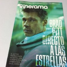 Cine: REVISTA CINERAMA SEPTIEMBRE 2019 BRAD PITT AD ASTRA JOKER ANNA DOWNTON ABBEY SYLVESTER IT STALLONE. Lote 179213625