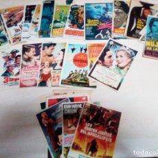 Cine: LOTE DE 489 PROGRAMAS DE CINE, POSTALES, FOTOS Y REPRODUCCIONES EN PAPEL. VER DESCRIPCION. Lote 179333905