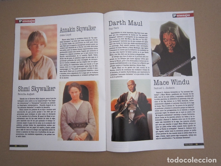 Cine: SUPLEMENTO - REVISTA ACCIÓN Nº 87 (STAR WARS: LA AMENAZA FANTASMA) - 1999 - Foto 2 - 179514421