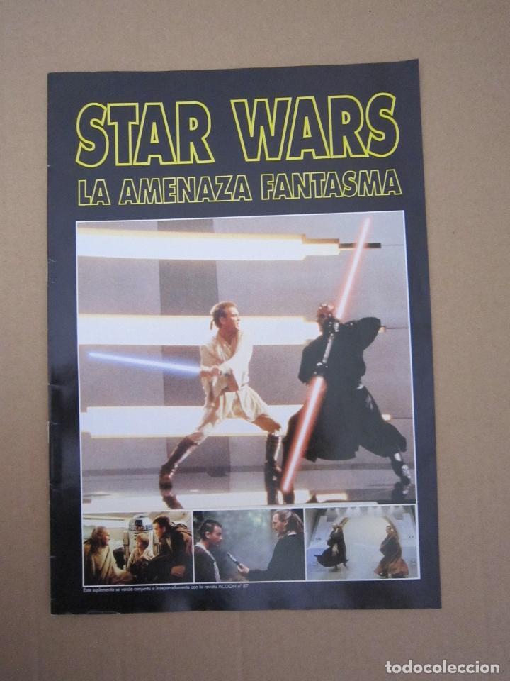 SUPLEMENTO - REVISTA ACCIÓN Nº 87 (STAR WARS: LA AMENAZA FANTASMA) - 1999 (Cine - Revistas - Acción)
