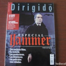 Cine: LOTE DOSSIER HAMMER / 3 REVISTAS 180 PAGS - FISHER / CUSHING / LEE - PERFECTO ESTADO. Lote 180010873