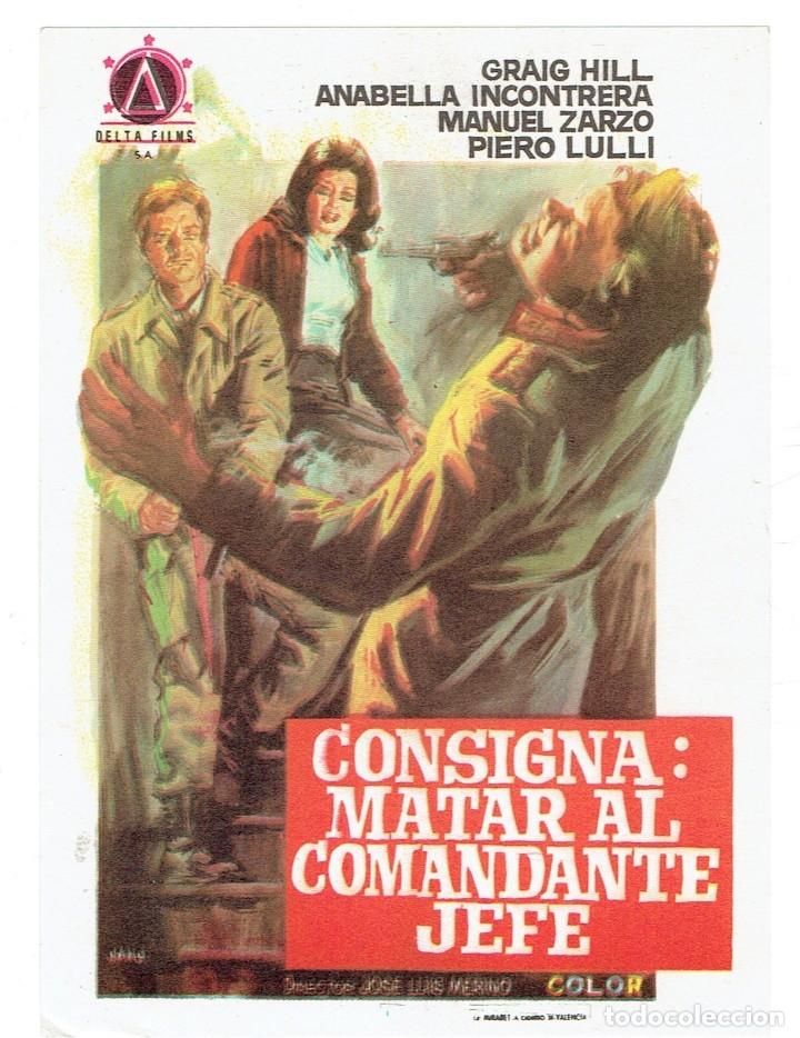 CONSIGNA, MATAR AL COMANDANTE JEFE (Cine - Revistas - Papeles de cine)