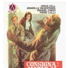 Cine: CONSIGNA, MATAR AL COMANDANTE JEFE. Lote 180181111