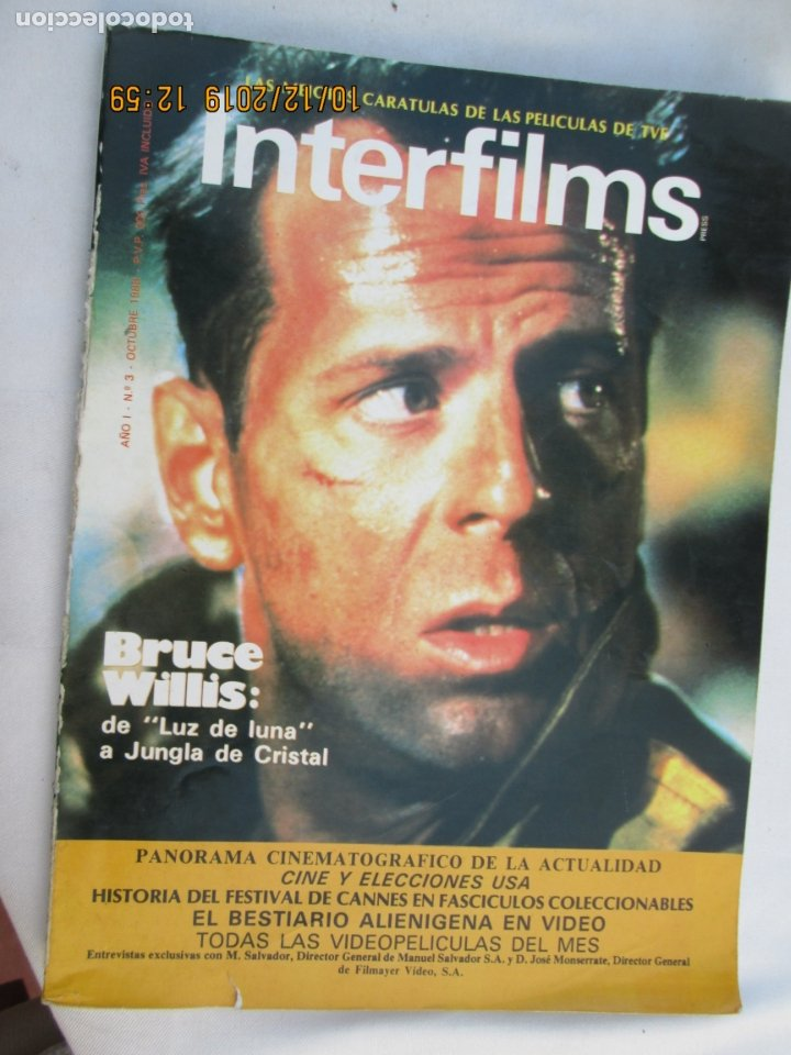 MAGAZINE INTERFILMS Nº 3 - BRUCE WILLIS OCTUBRE 1988 (Cine - Revistas - Interfilms)