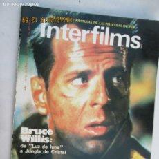 Cine: MAGAZINE INTERFILMS Nº 3 - BRUCE WILLIS OCTUBRE 1988 . Lote 180201525